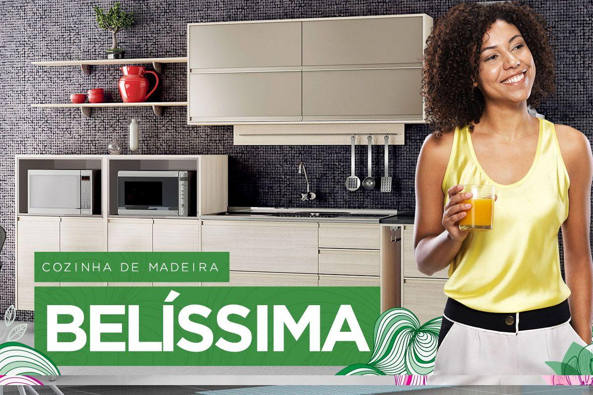 Cozinha Modulada de Madeira Itatiaia Jazz #398B40 1200 800