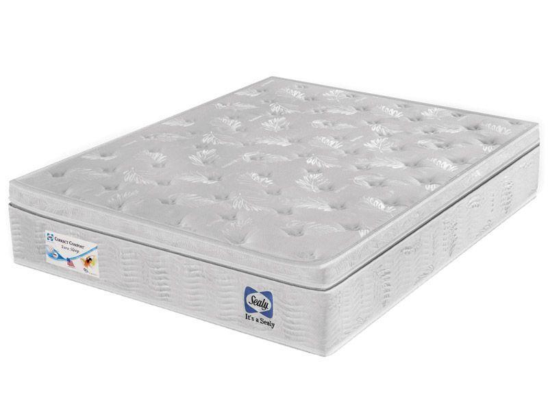 Colchão Sealy de Molas Pocket Correct Comfort Euro Sleep Viscoelástico Pilow - Colchão Sealy