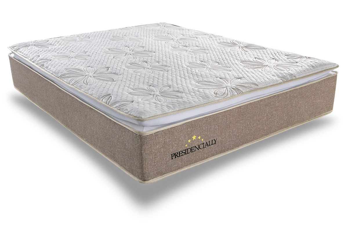 Colchão Sealy Molas Pocket PresidenciallyColchão Queen Size - 1,58x1,98x0,34 - Sem Cama Box