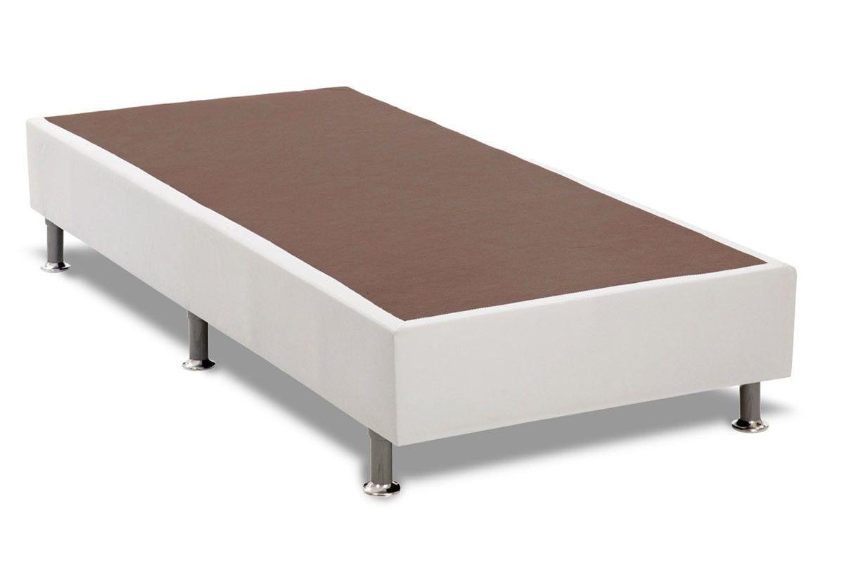 Cama Box Base Universal Ortobom Courino Bianco 20Cama Box Solteiro - 0,78x1,88x0,20 - Sem Colchão