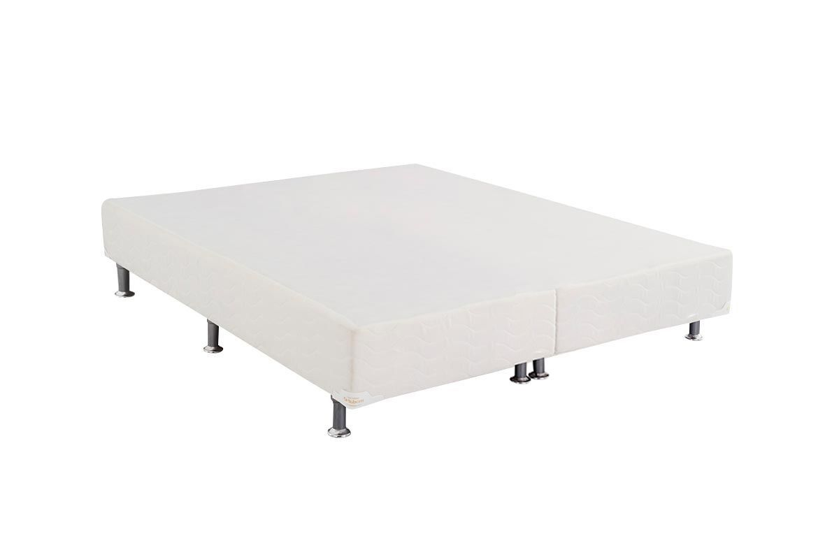 Cama Box Base Ortobom Light  Branco 24Cama Box King Size - 1,86x1,98x0,24 - Sem Colchão