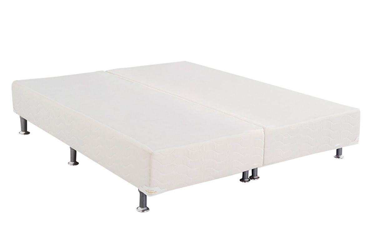 Cama Box Base Ortobom Physical Branco 20Cama Box King Size - 1,93x2,03x0,20 - Sem Colchão