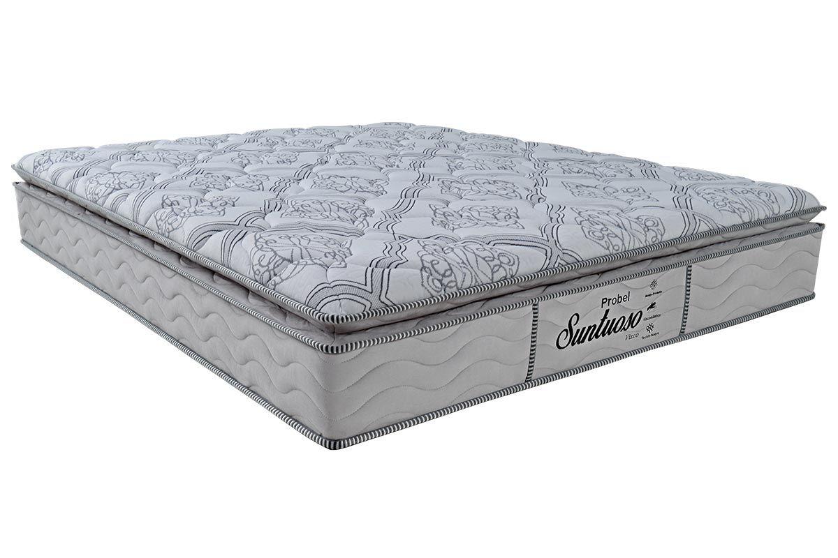 Colchão Probel Molas Prolastic SuntuosoColchão Casal - 1,38x1,88x0,30 - Sem Cama Box