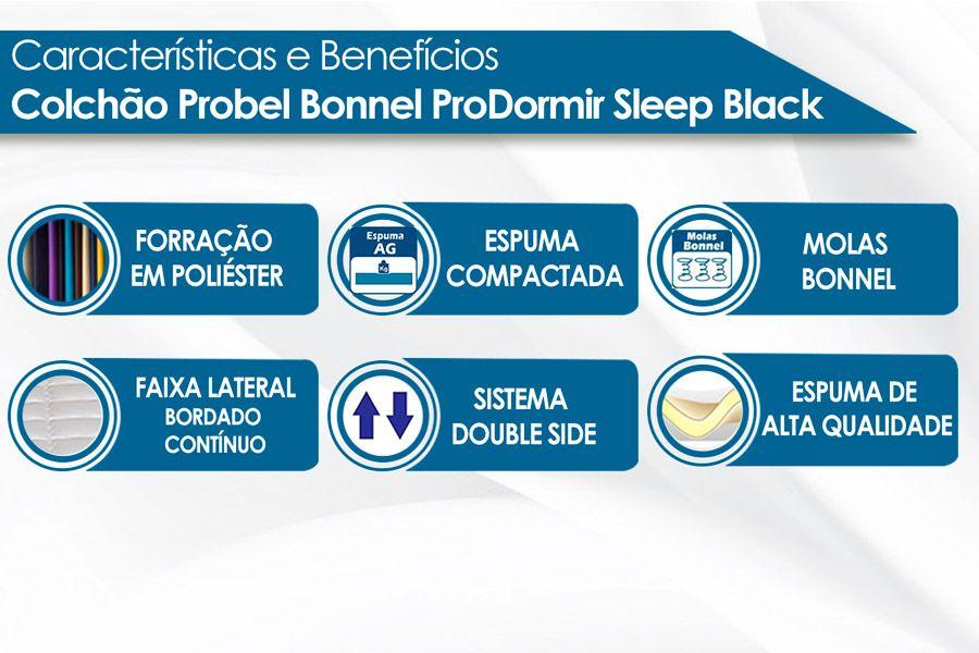 Colchão Probel Bonnel ProDormir Sleep Black