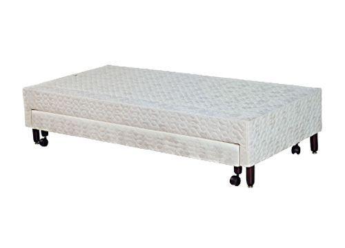 Cama Box Paropas Sleeping White c/ AuxiliarCama Box Solteiro - 0,88x1,88x0,30 - Sem Colchão