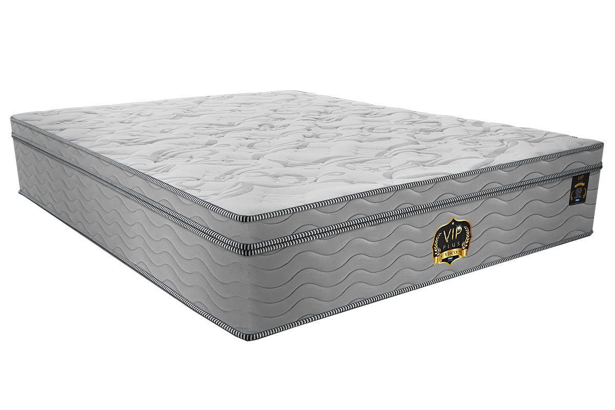 Colchão Probel Molas Pocket Vip Plus ViscoColchão King Size - 1,93x2,03x0,36 - Sem Cama Box