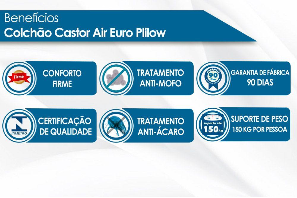 Colchão Castor D45 Black e White AIR O.F