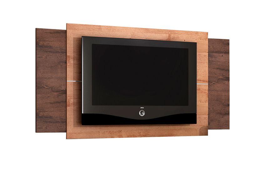 Painel para Tv Valdemóveis FitCor Terracota c/ Castanho