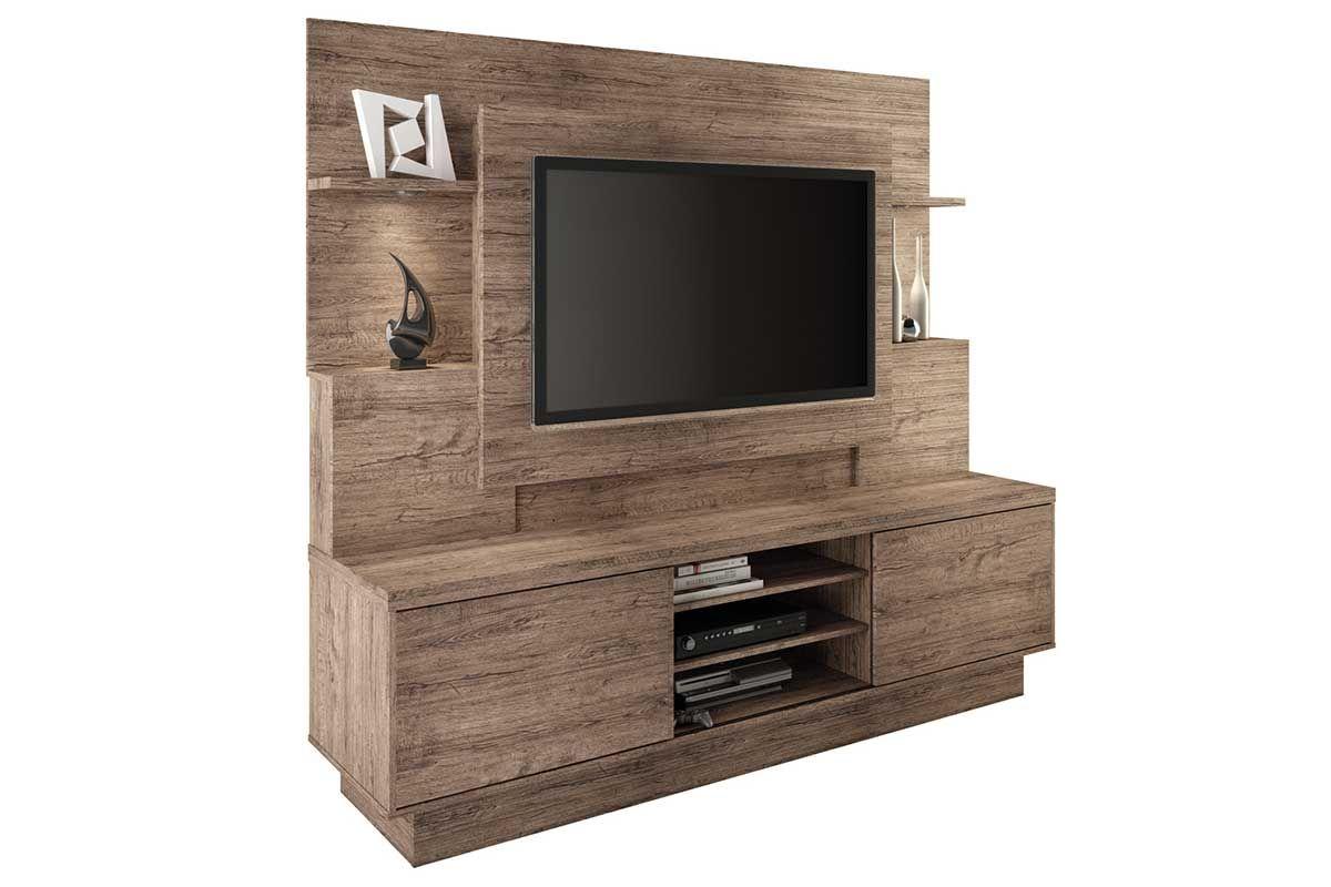 Home Theater Linea Brasil Aron p/ TV 55 WoodCor Naturale/ Novo Naturale ou Naturale c/ Wenguê