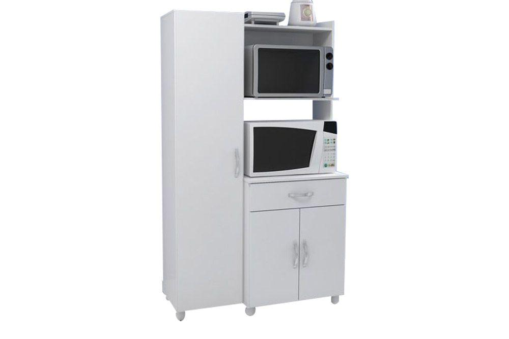 Rack Multifuncional Multimóveis 4080Cor Branco Brilho
