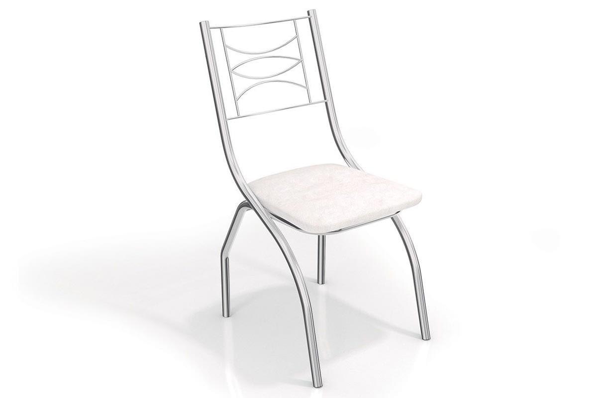 Cadeira Kappesberg Itália Cromada 2C018CRCor Cromada  -  Assento Branco 106