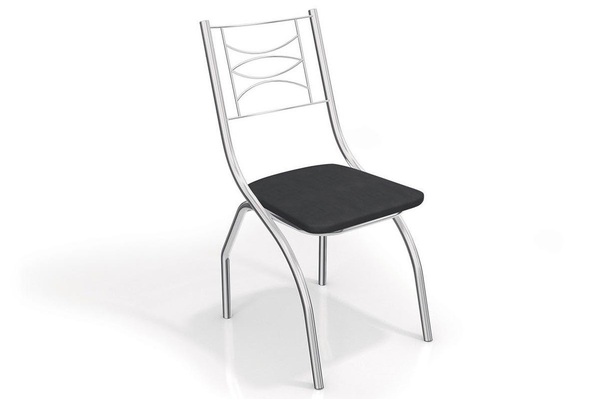 Cadeira Kappesberg Itália Cromada 2C018CRCor Cromada  -  Assento Preto 110