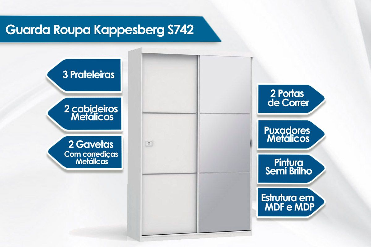 Guarda Roupa Kappesberg S742