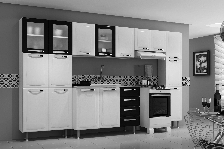Armário de Cozinha Itatiaia Aéreo Itanew IPV2 80 NG Aço c/ 2 Portas  #303030 3000 2000