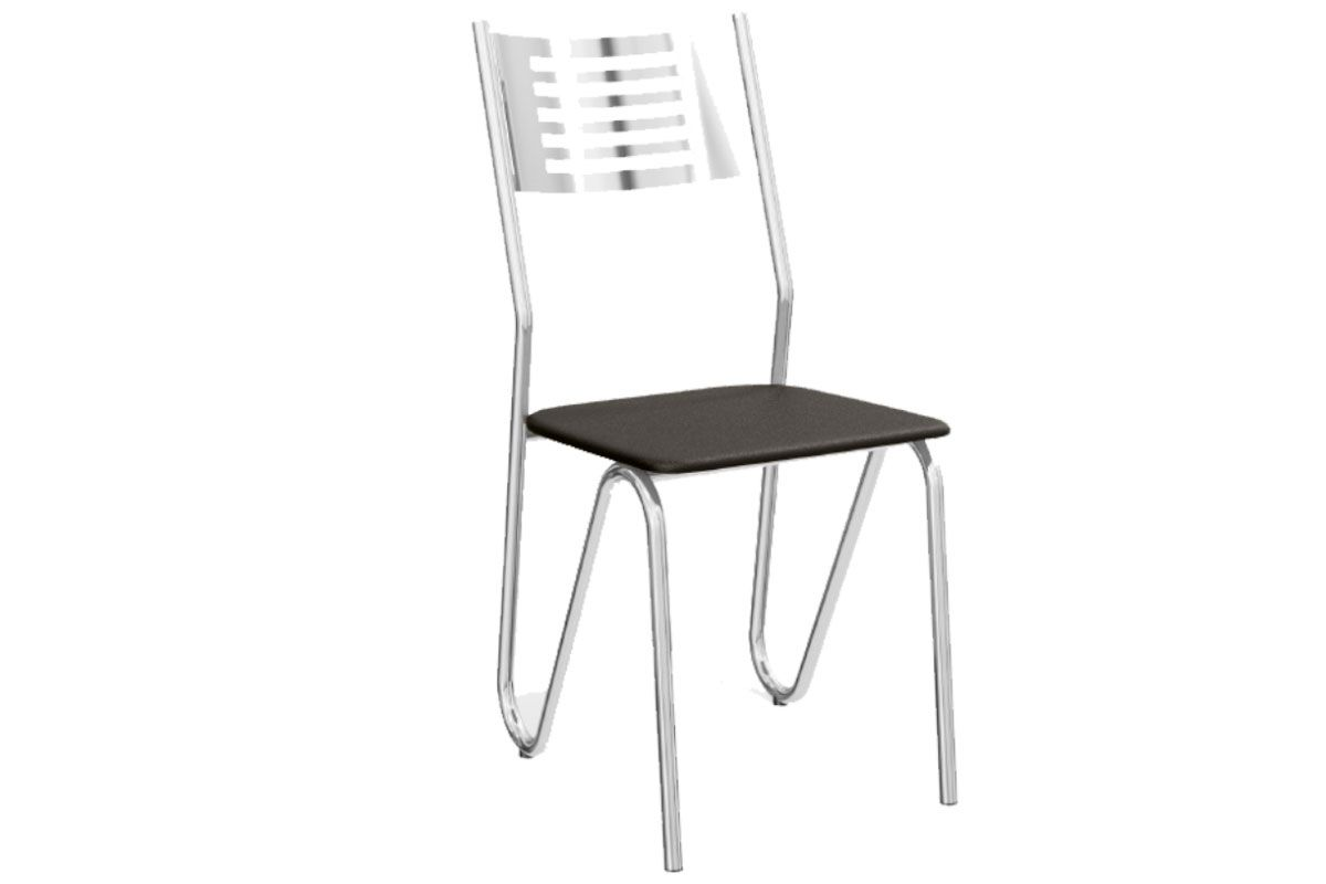 Cadeira Kappesberg Nápoles Cromada 2C045CRCor Cromada  -  Assento Preto 110