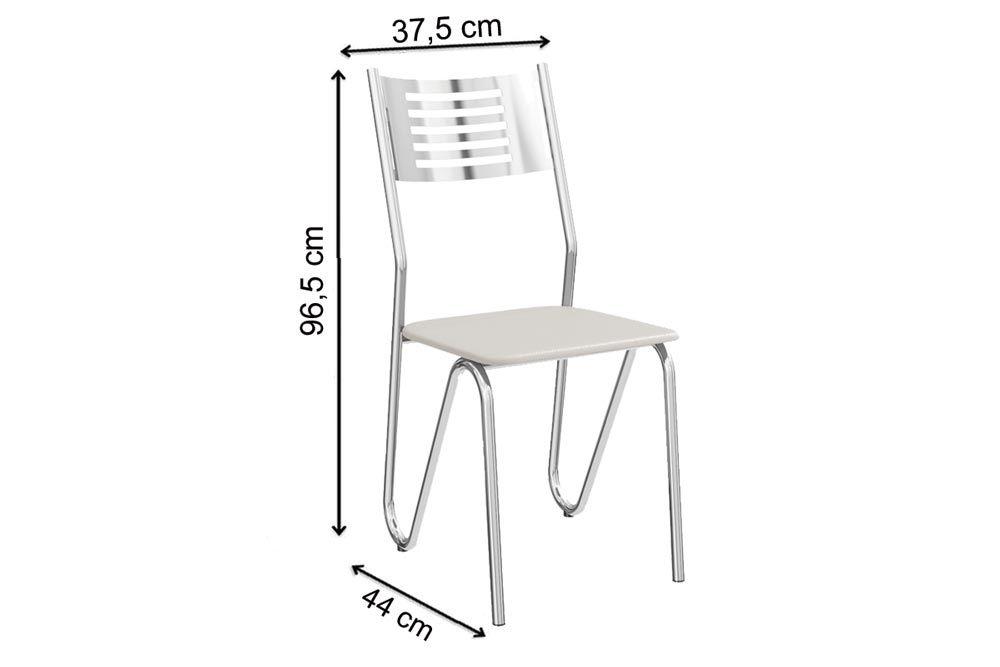 Cadeira Kappesberg Nápoles 2C045CR (2 Unidades)-Crome Aço
