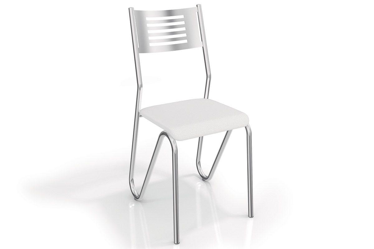 Cadeira Kappesberg Nápoles Cromada 2C045CRCor Cromada  -  Assento Branco 106