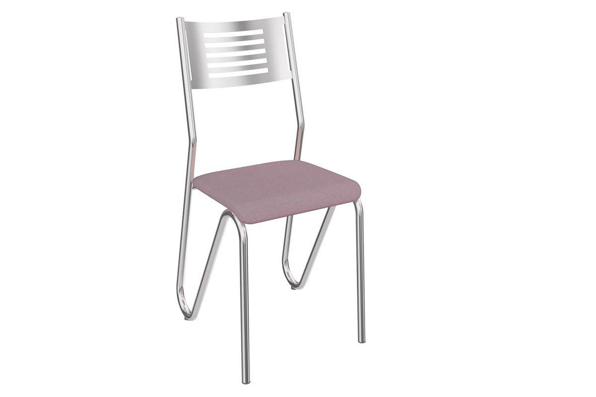 Cadeira Kappesberg Nápoles Cromada 2C045CRCor Cromado  -  Assento Salmão 23