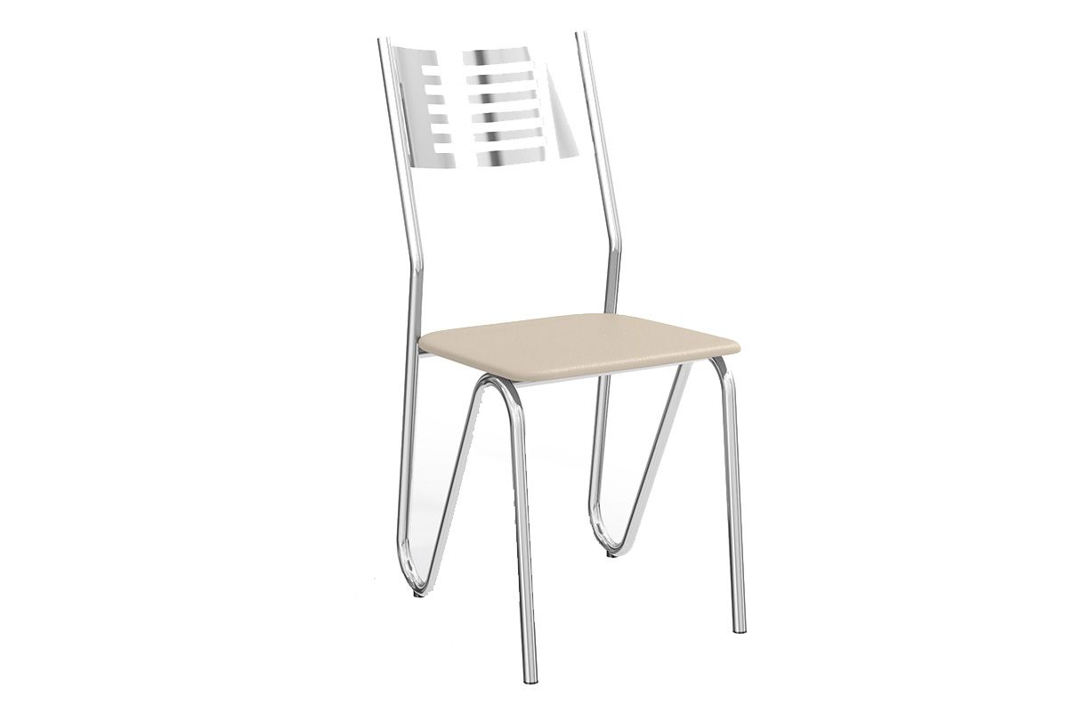 Cadeira Kappesberg Nápoles Cromada 2C045CRCor Cromada  -  Assento Nude 16