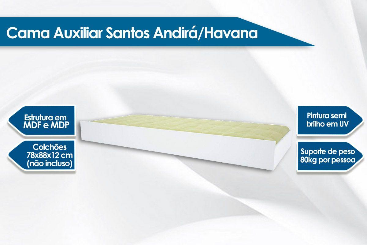 Cama Auxiliar Santos Andirá/Havana