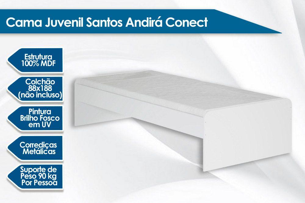 Cama Juvenil Santos Andirá Teen