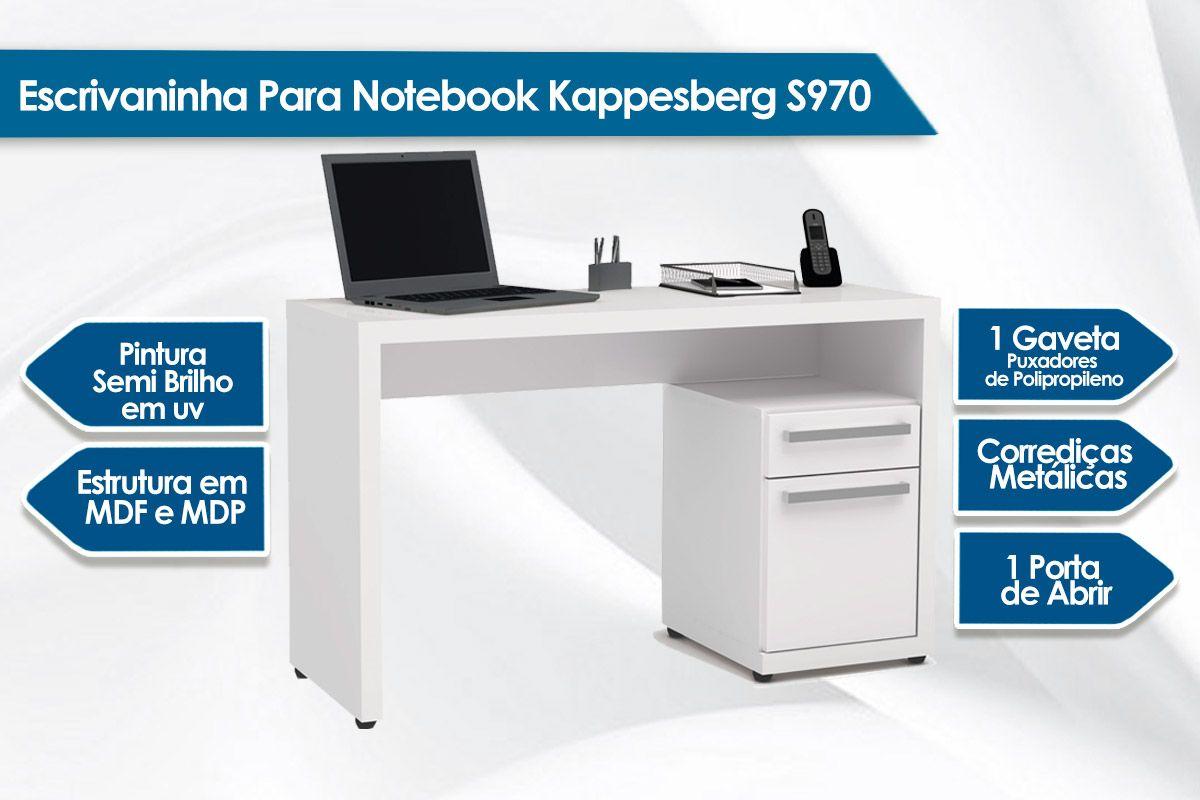 Escrivaninha Para Notebook Kappesberg S970