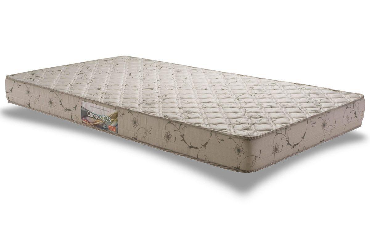 Colchão Herval Espuma D33 CannesColchão Solteiro - 0,88x1,88x0,14 - Sem Cama Box