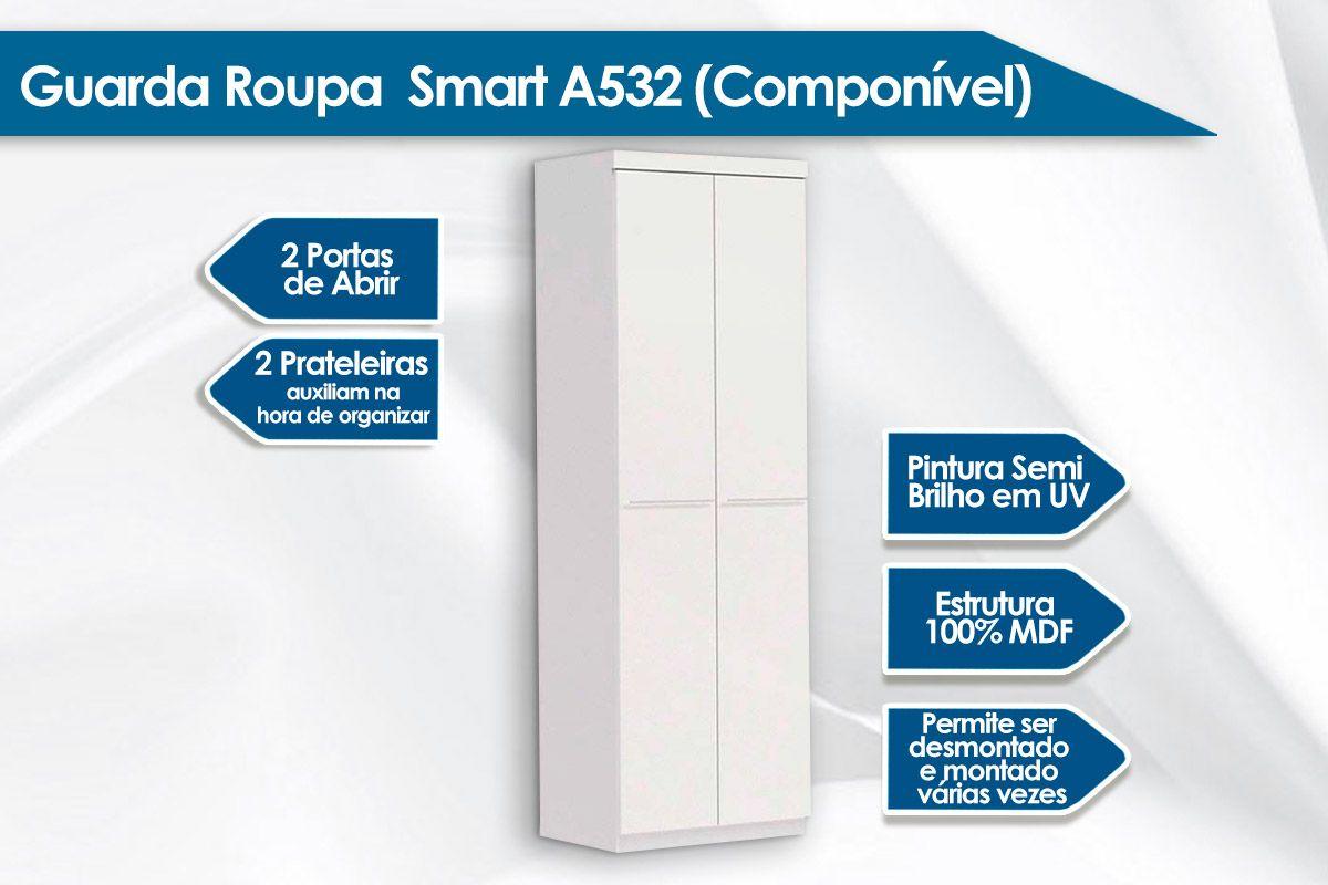 Guarda Roupa / Roupeiro Kappesberg Smart A532 c/2 Portas (Componível)