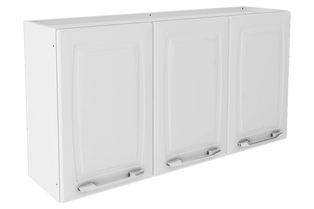 Armário Cozinha Itatiaia Criativa Aço 3 Portas 105cm Cor Branco # Armario De Cozinha Aereo Walmart