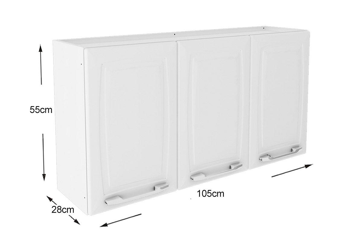 Armario Tela Alcampo ~ Armário Cozinha Itatiaia Criativa Aço 3 Portas 105cm até 40% OFF Filhao com