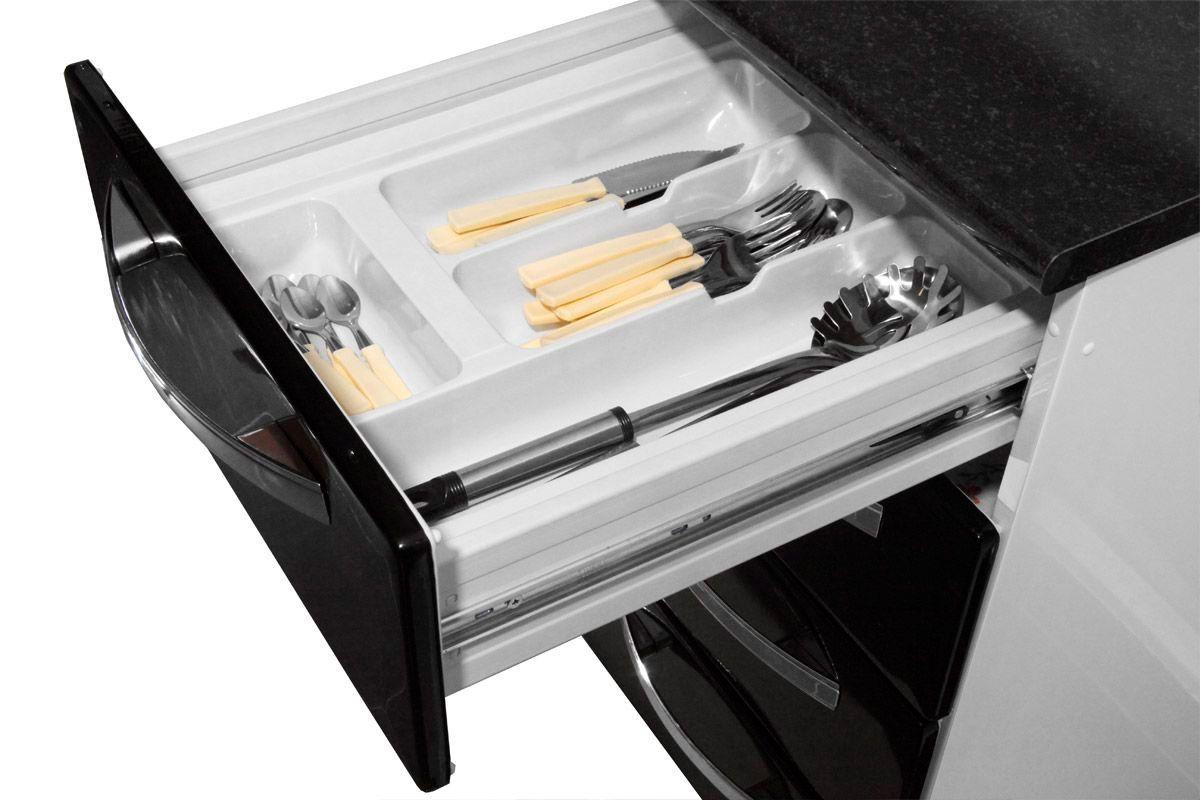 Gabinete de Cozinha Itatiaia Criativa Aço 2 Portas e  4 gavetas 105cm