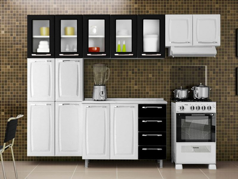 Paneleiro Cozinha Itatiaia Criativa Aço C/ Vidro 6 Portas 70cm