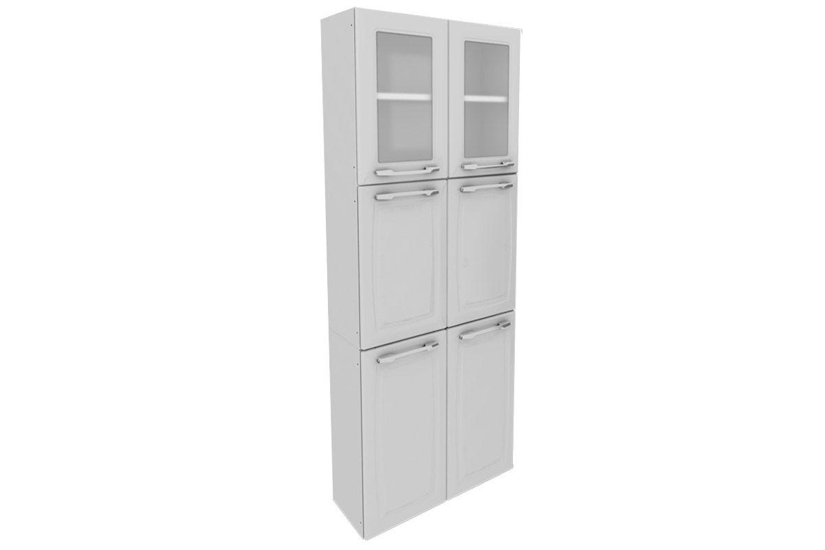 Paneleiro Cozinha Itatiaia Criativa Aço C/ Vidro 6 Portas 70cmCor Branco