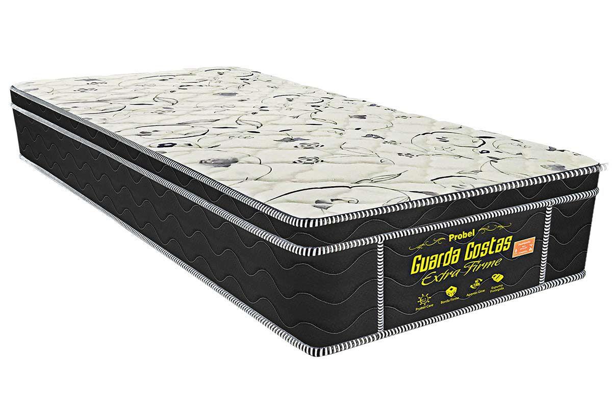 Colchão Probel Espuma Extra Firme black 24cmColchão Solteiro - 0,78x1,88x0,24 - Sem Cama Box