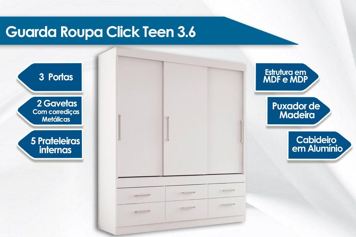 Guarda Roupa Santos Andirá Click Teen  3.6