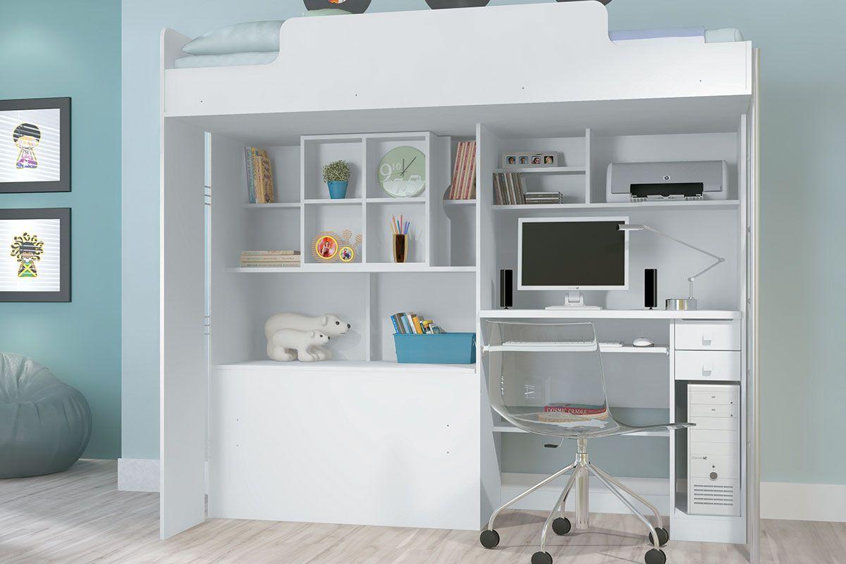 Beliche Com Escrivaninha e Baú Santos Andirá Office Tenn até 40%  #6B614D 1200x800
