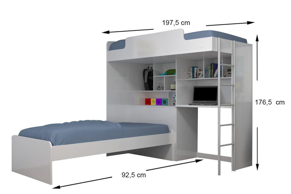Beliche Com Escrivaninha e Baú Santos Andirá Office Tenn