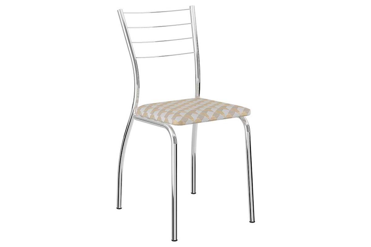 Caixa c/ 2 Cadeiras Carraro 1700Cor Cromada - Assento Retrô Metalizado