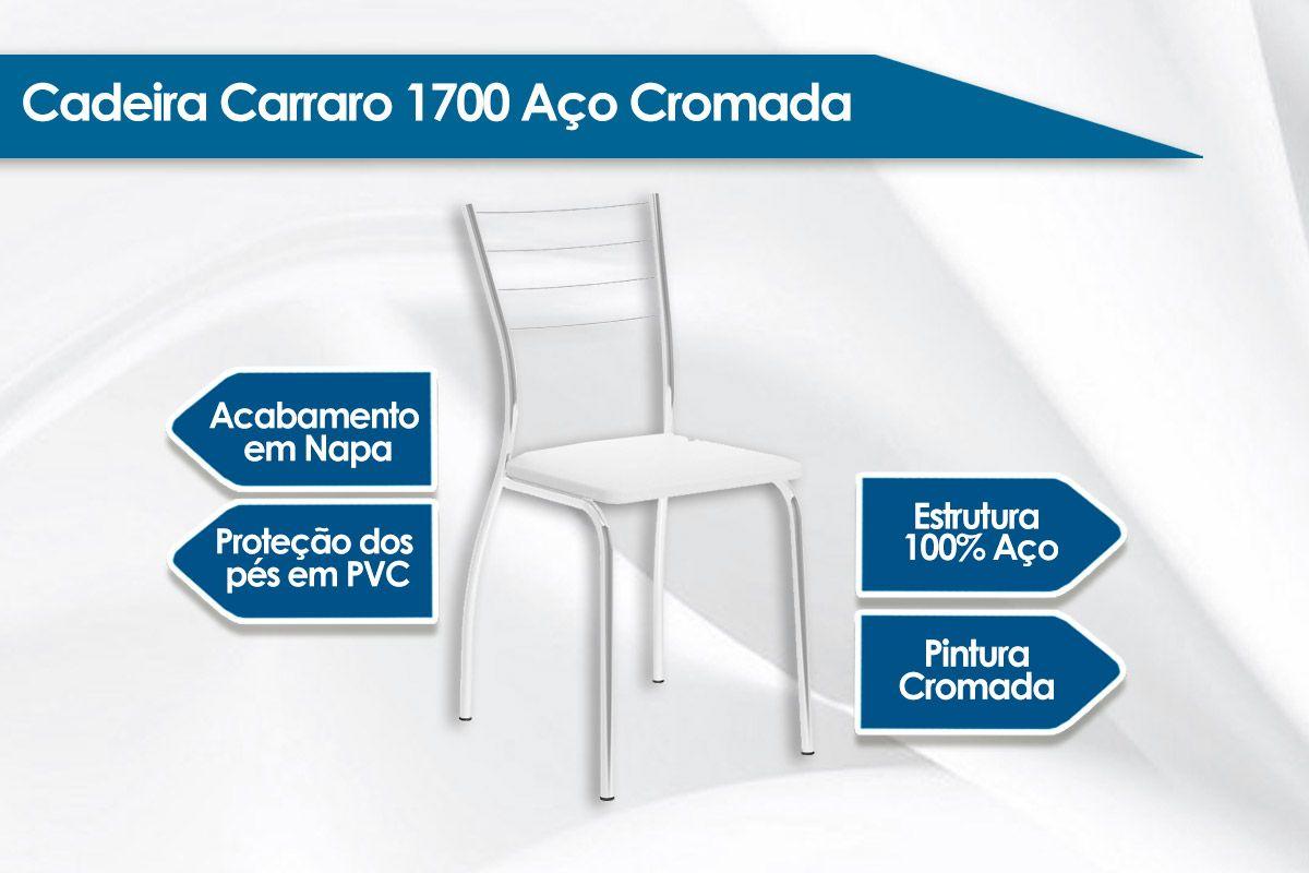 Caixa c/ 2 Cadeiras Carraro 1700
