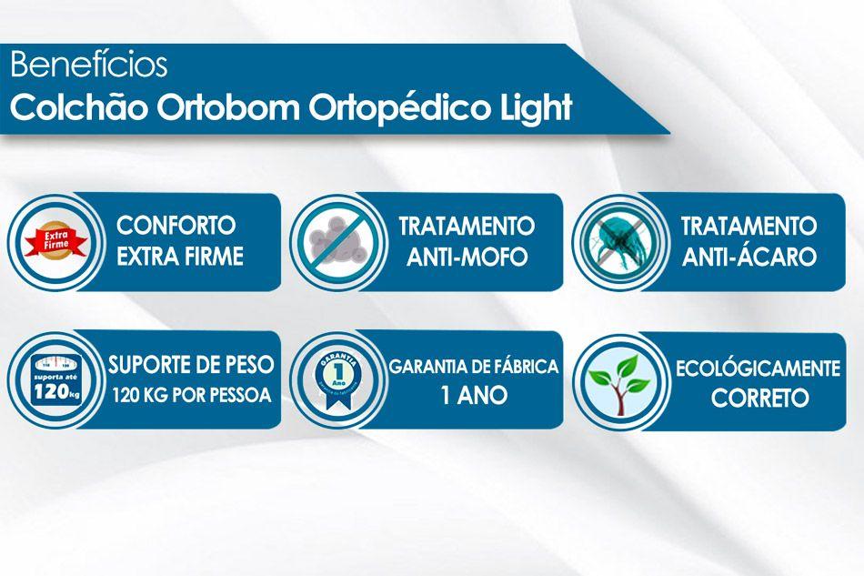 Colchão Ortobom Ortopédico Light