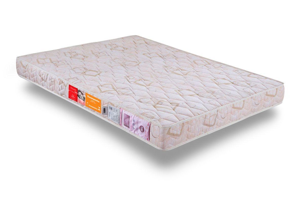Colchão Orthocrin Espuma D33 DiamanteColchão Casal - 1,28x1,88x0,16 - Sem Cama Box