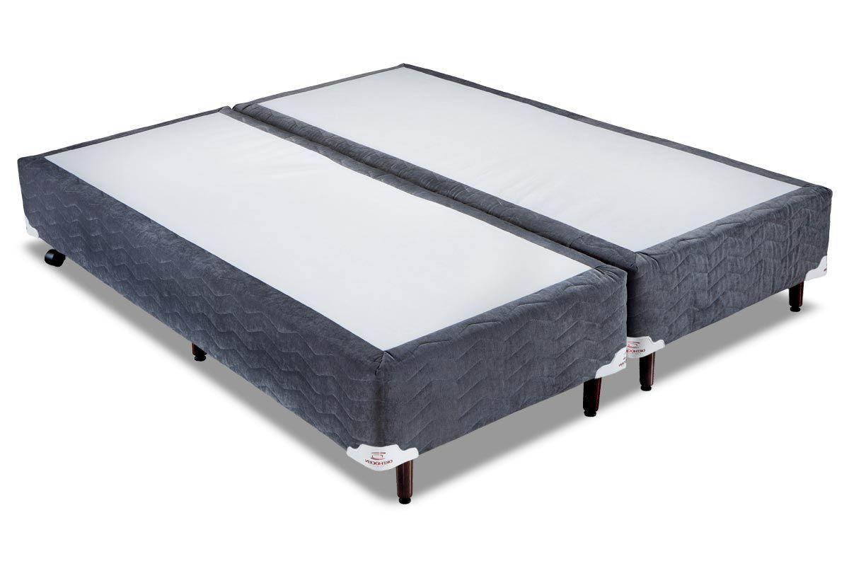 Cama Box Orthocrin Sommier Plus ChumboCama Box Queen Size - 1,58x1,98x0,24 - Sem Colchão