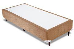 Cama Box Orthocrin Sommier Plus Avelã - Cama Box Solteiro - 0,88x1,88x0,24 - Sem Colchão