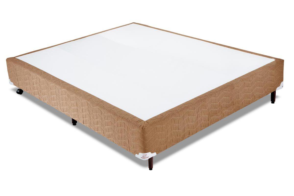 Cama Box Orthocrin Sommier Plus AvelãCama Box Casal - 1,38x1,88x0,24 - Sem Colchão