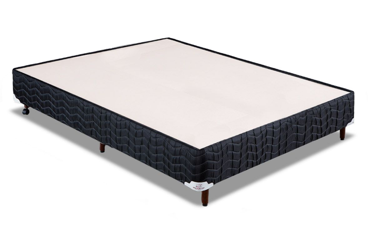Cama Box Orthocrin Sommier Plus BlackCama Box Casal Inteiriço - 1,38x1,88x0,24 - Sem Colchão
