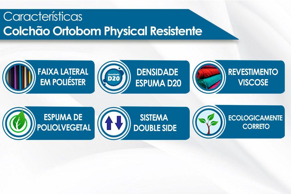 Colchão Ortobom Physical Resistente Liso