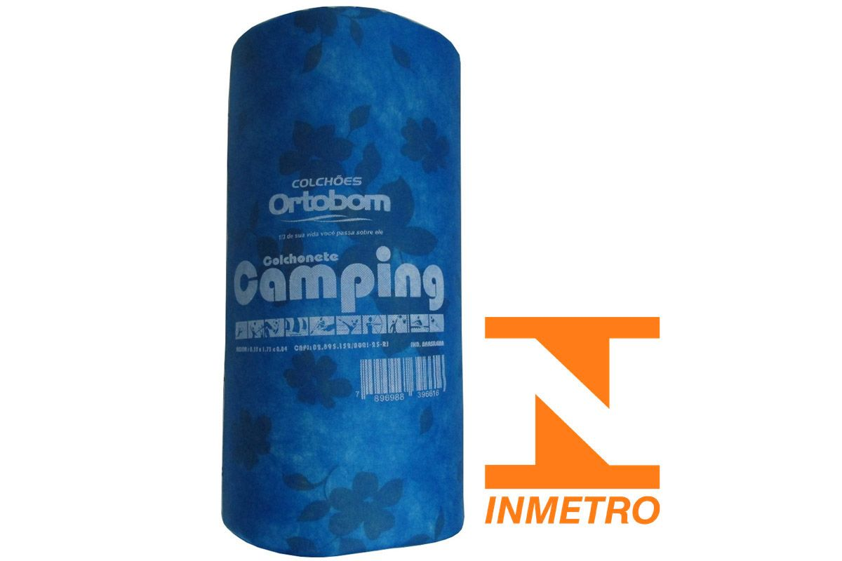 Colchonete Ortobom Mochila Camping INMETRO