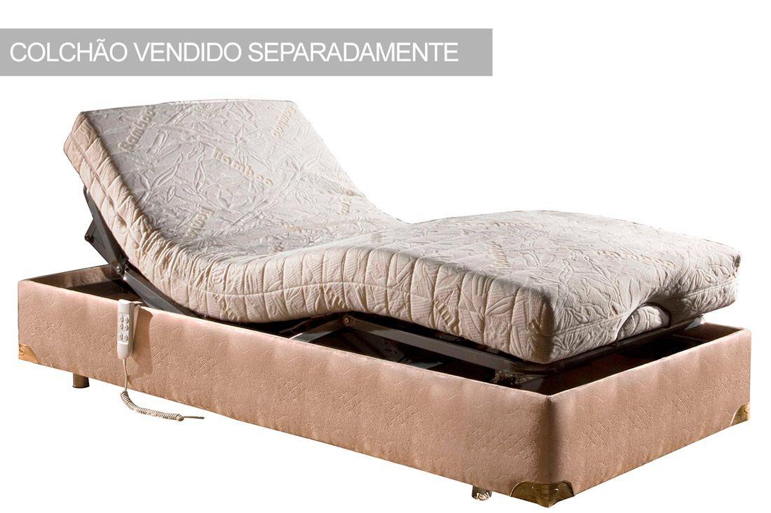 Cama Box Herval Articulável MH 1807Cama Box Solteiro - 0,95x2,03x0,33 - Sem Colchão