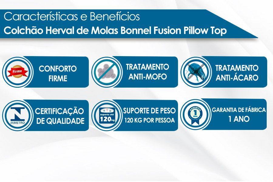 Colchão Herval Molas Bonnel Fusion