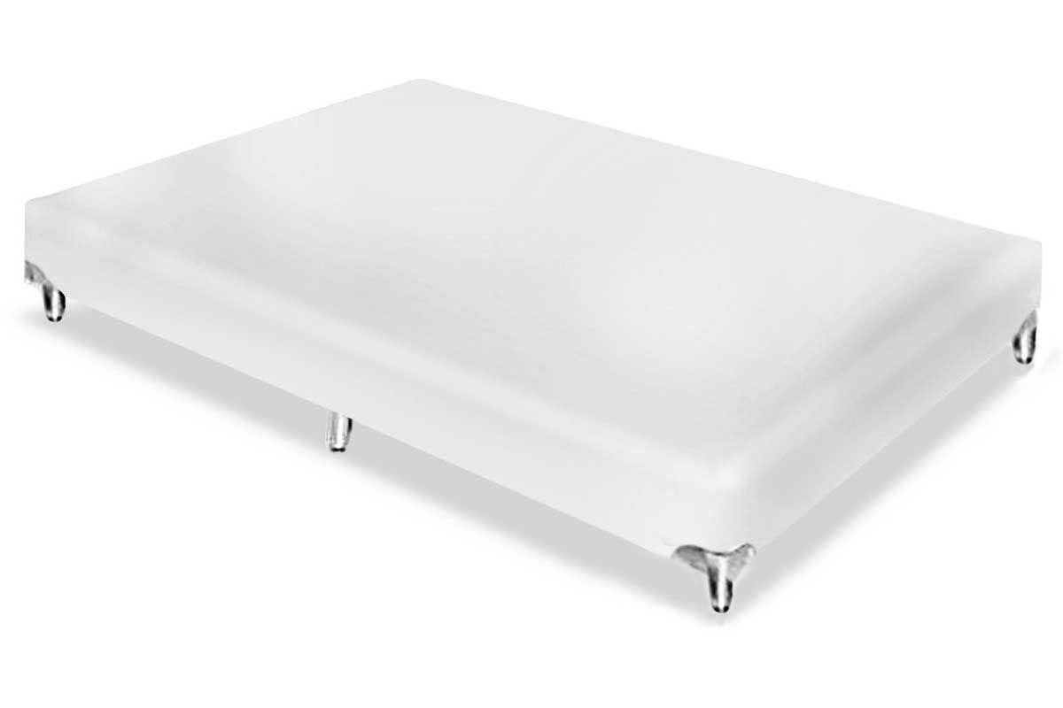 Cama Box Base Americana Ortobom Couríno Bianco 23Cama Box Casal - 1,38x1,88x0,23 - Sem Colchão